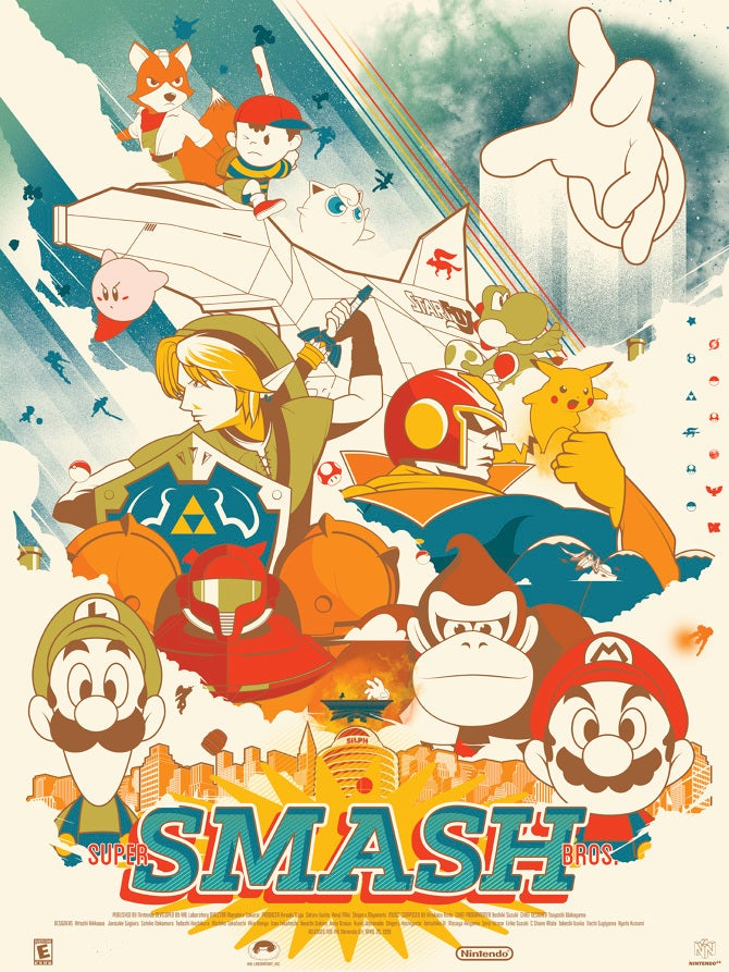 10/27/2014: Prepare For Super Smash Bros. With This Poster