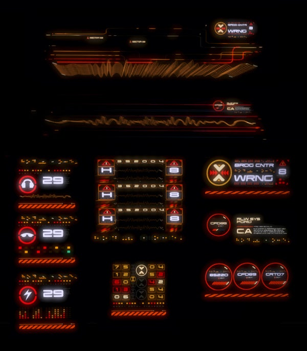 Someone Has To Design All Those Video Game Menus And Computers - Game menu design