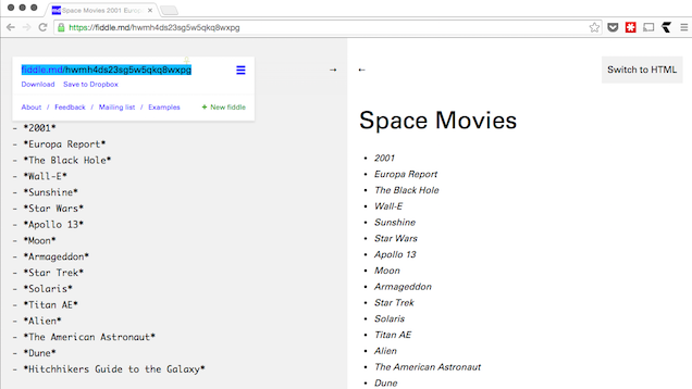 Fiddle Is a Collaborative Markdown Tool for the Web