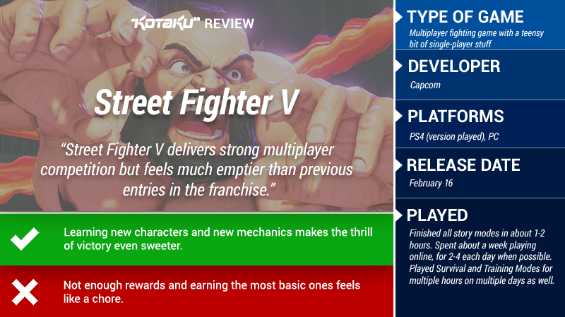 Street Fighter V: The Kotaku Review