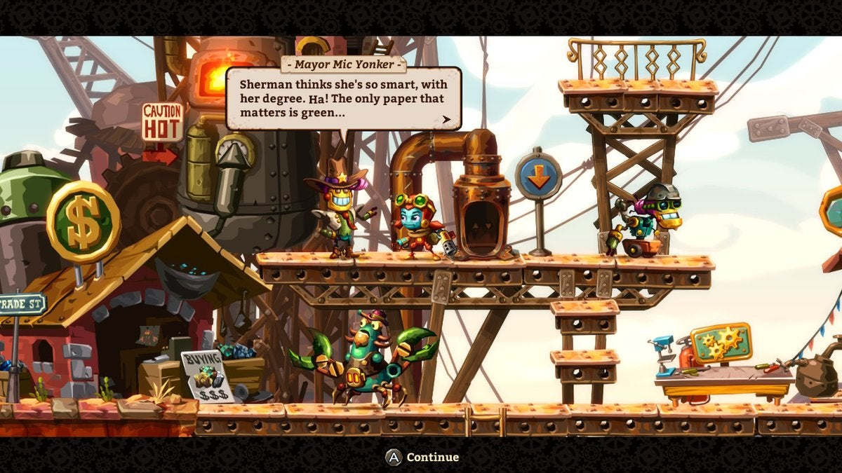 SteamWorld Dig 2 Borrowed From Classic American Westerns