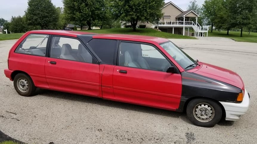 Someone Built A Limo Out Of Two Tiny Ford Festivas And I'm Both Confused And Impressed