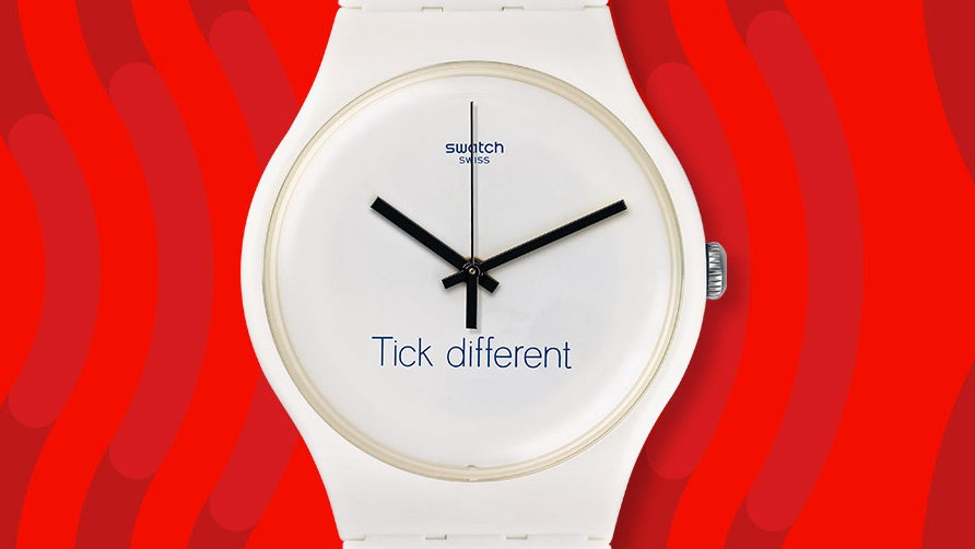 Swatch Wins Rights To Trademark That Definitely Doesn't Resemble One Of Apple's Most Famous Slogans