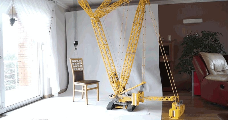 This Towering 24-Foot Lego Crane Can Actually Move This Guy's Furniture Around