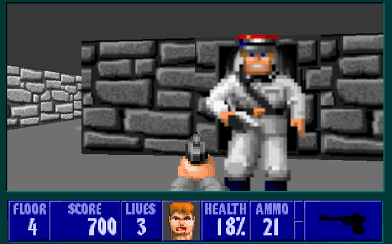 Wolfenstein 3D, You Look Different