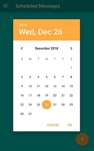 schedule text
