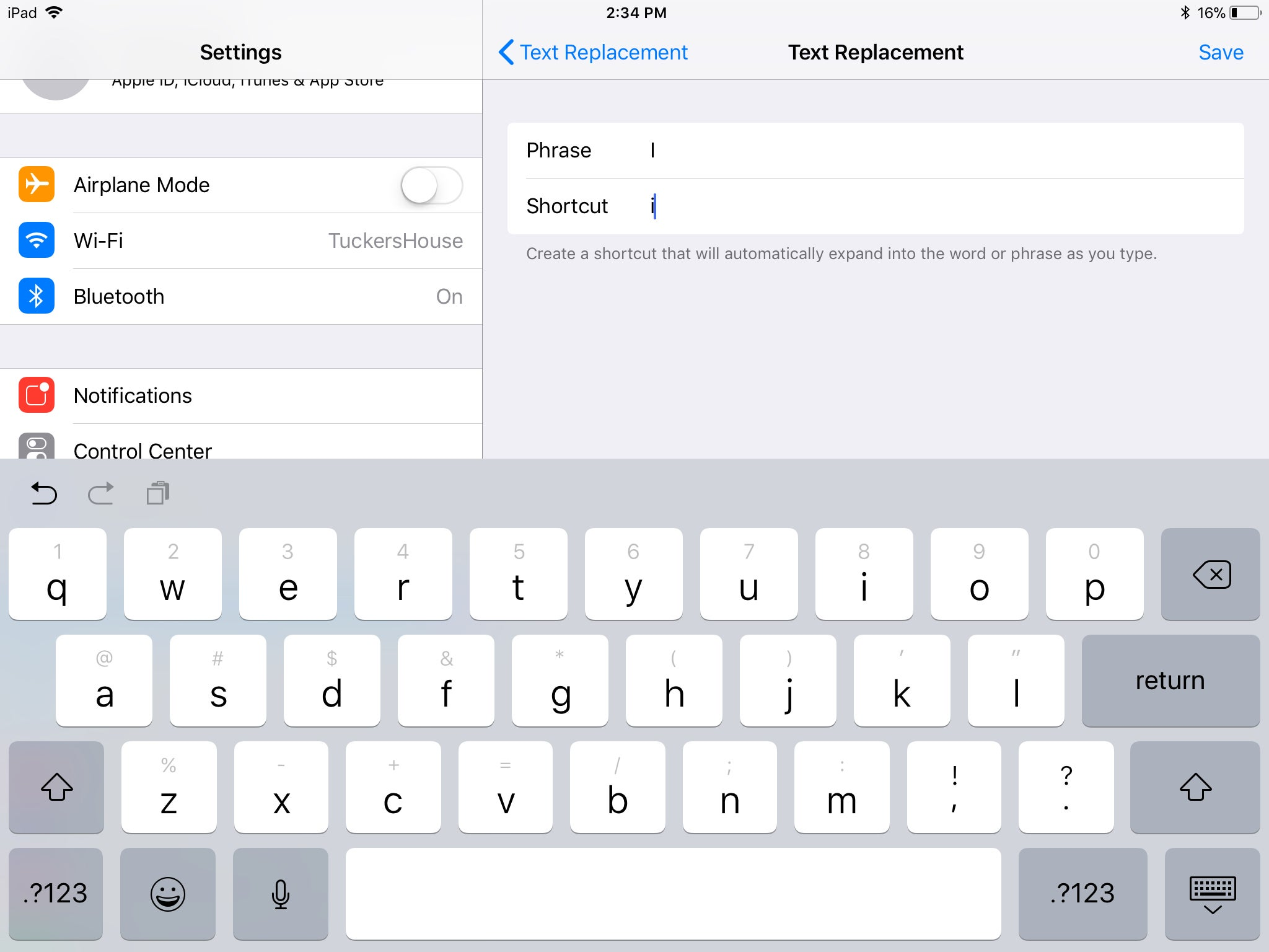 Bug Stops Some iPhone Uses from Typing 'I'