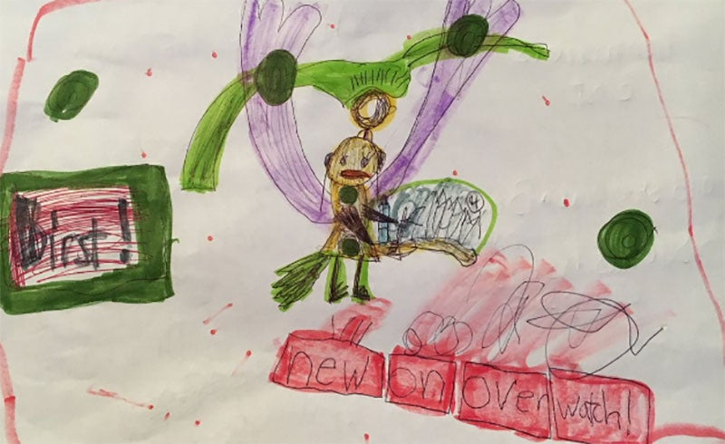 Kid Designs Overwatch Character, Blizzard Artists Finish The Job