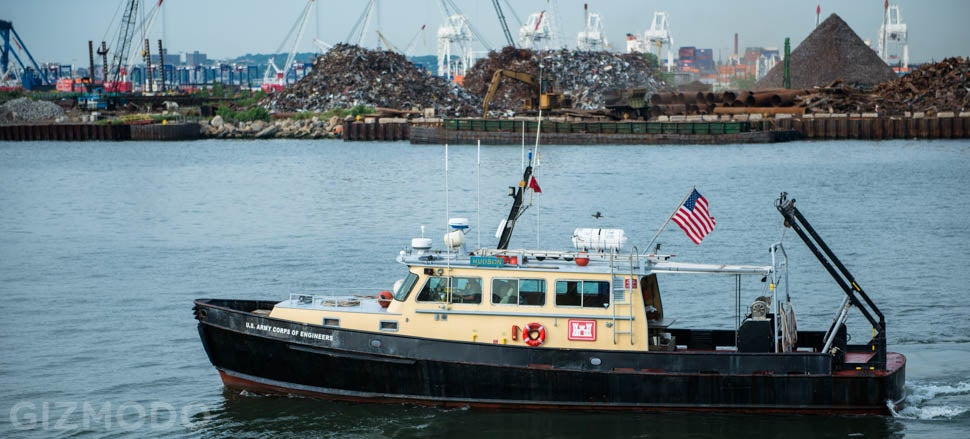 A Trip On the Hybrid Crane-Boats That Pull Wreckage from NYC Harbor