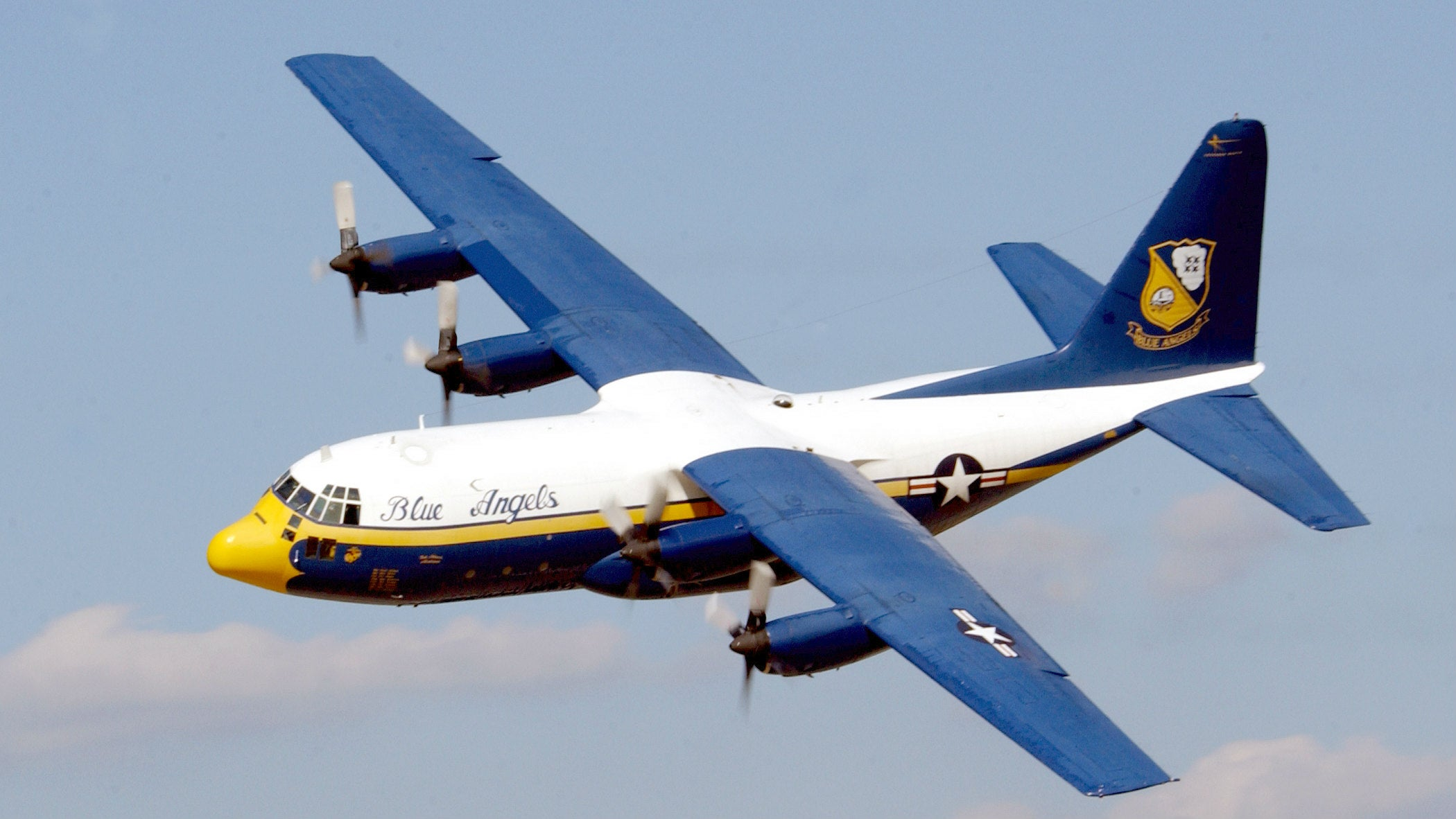 The Blue Angels Used to Travel Aboard a Rocket Powered Hercules