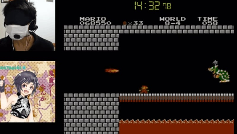 Super Mario Bros., Beaten Blindfolded In Under 15 Minutes