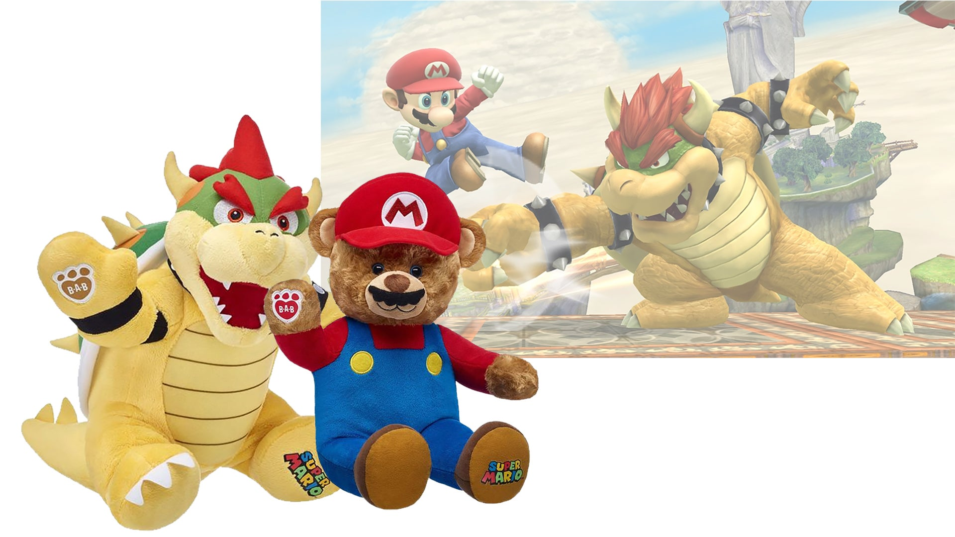 Mario And Bowser Get Along Much Better As Build-A-Bears