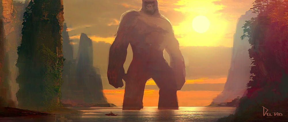 This GorgeousKong: Skull Island Concept Art Is Fit For A King