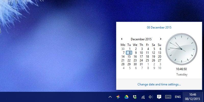 Bring Back the Classic Clock in Windows 10