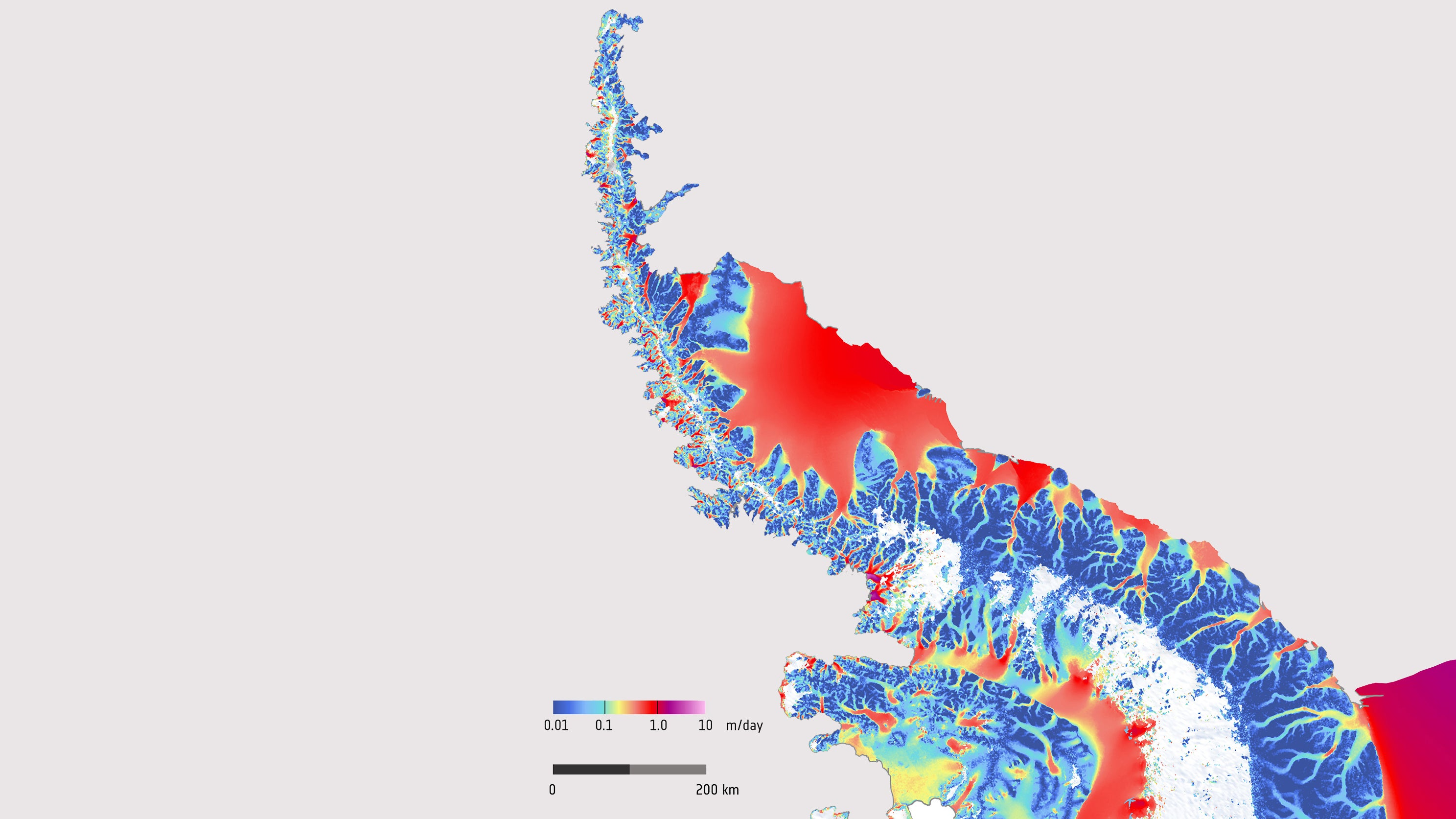 This Trippy Image Shows How FastAntarctic Ice Flows