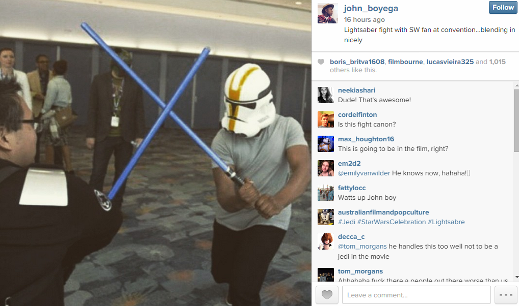 Force Awakens Actor Roamed Star Wars Con Disguised As Clone Trooper