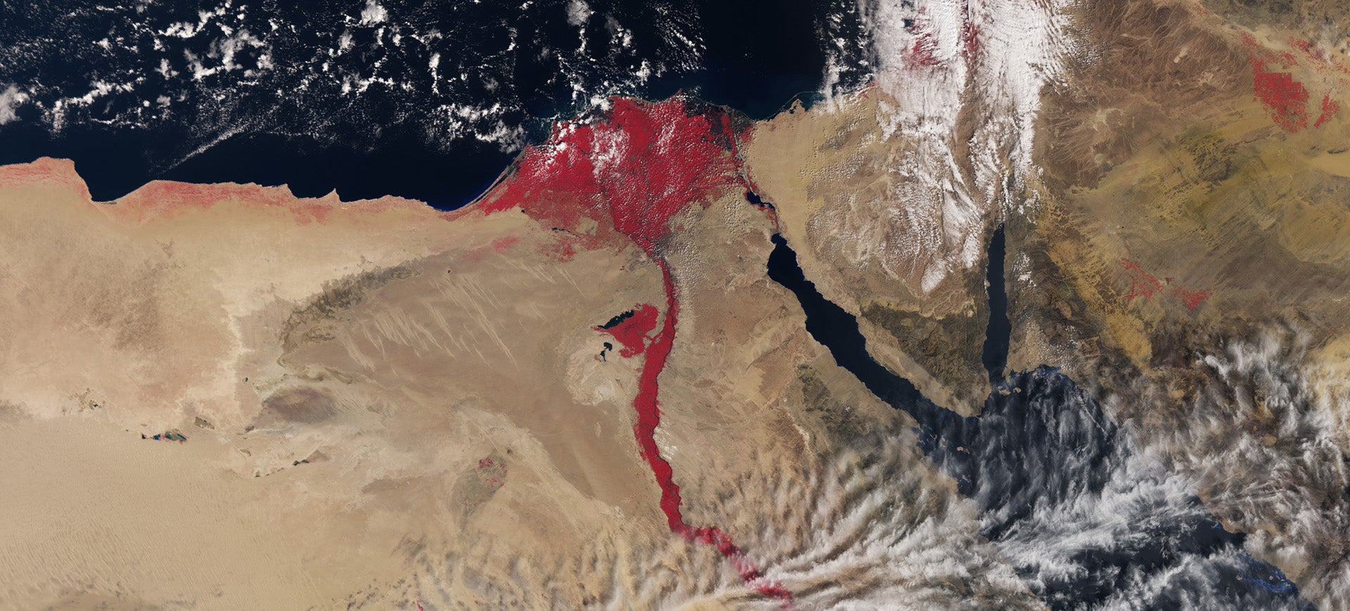 Don't Worry, the Nile Hasn't Turned to Blood in This Satellite Image