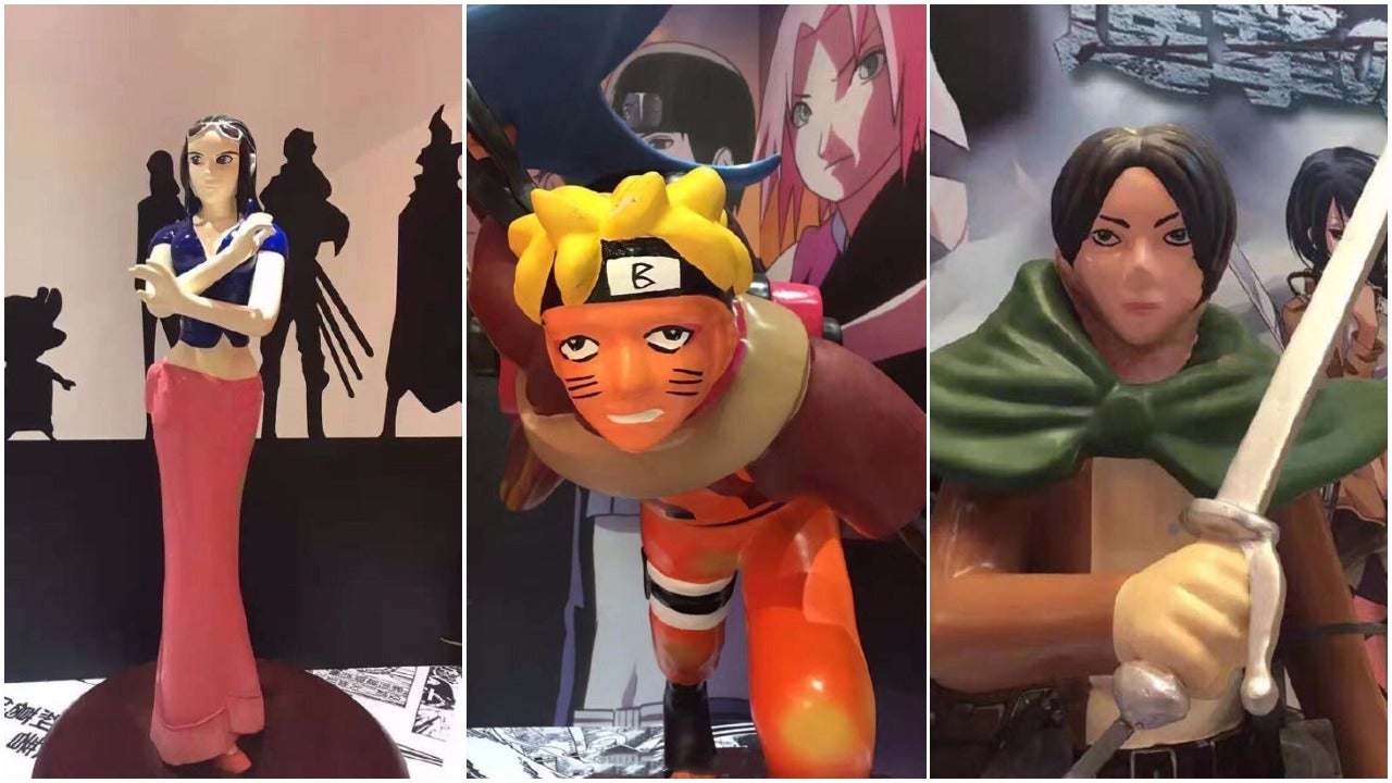One Piece, Naruto, And Attack On Titan Turned Into Crappy Statues