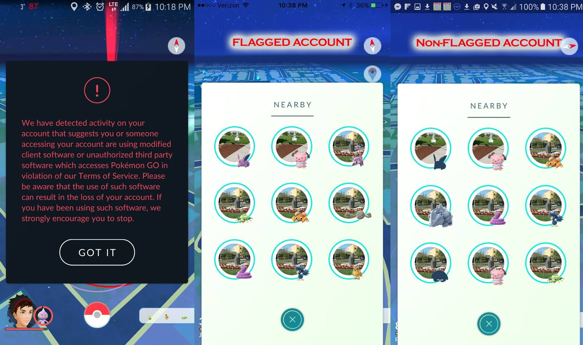 Pokemon GO 'Cheaters' Say Niantic Is Punishing Them By