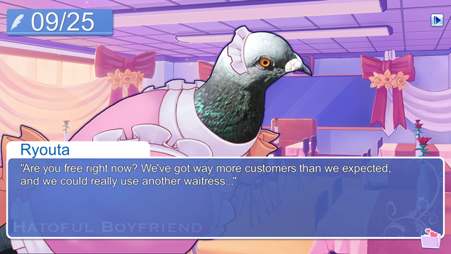 Hatoful Boyfriend Dating Sim Game  DATING PIGEONS!