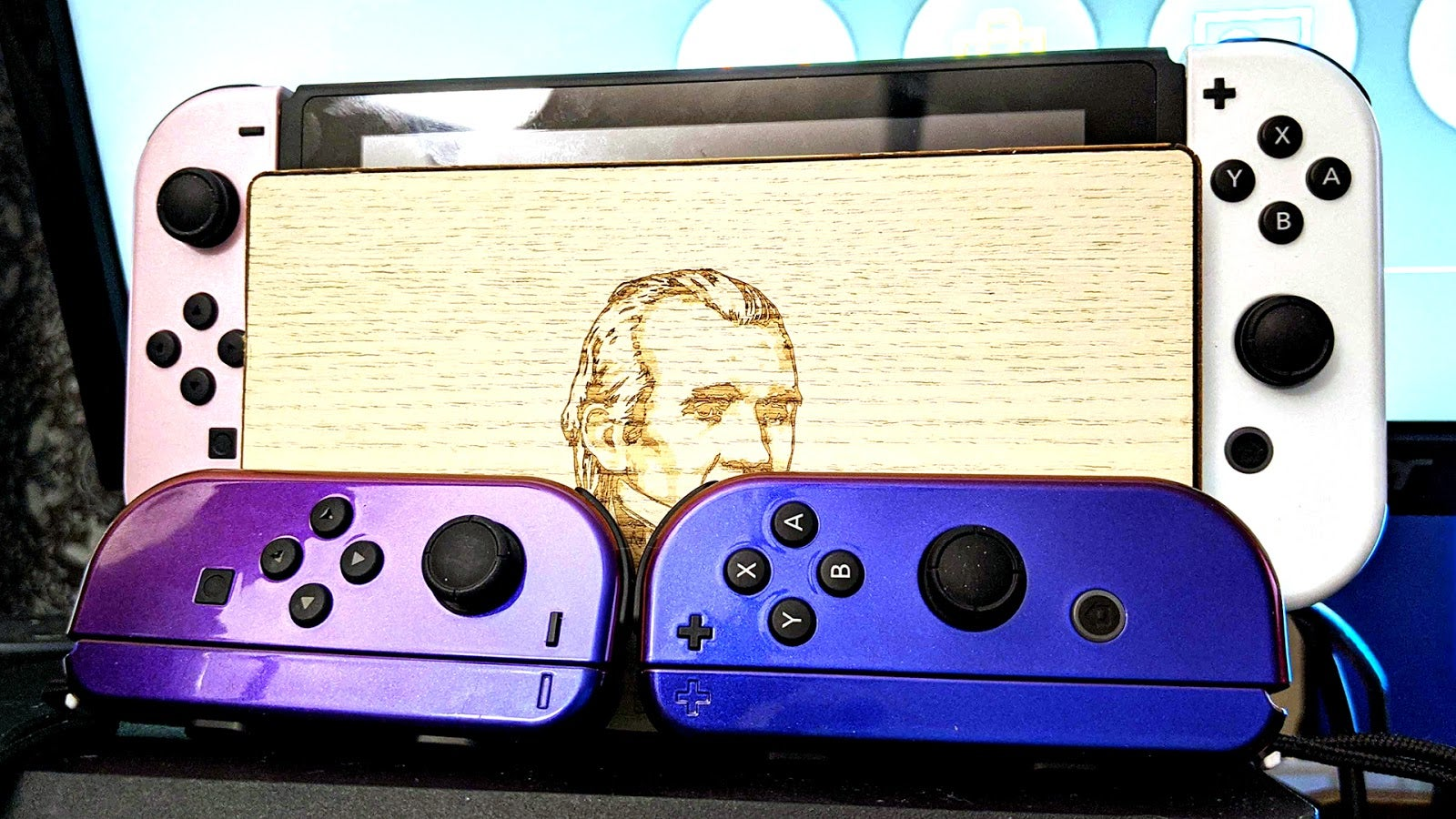 Bow Before The Beauty Of My Custom-Painted Joy-Cons