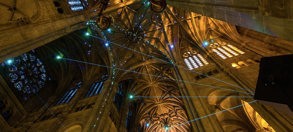 This Cathedral Is Filled With Smartphone-Powered Laser Beams