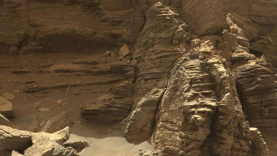 These New Images Of Jagged Rock Formations On Mars Are Just Incredible