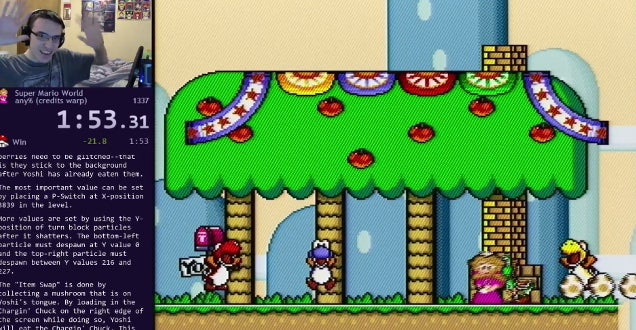 Dude Beats A Super Mario World Record Five Times In One Week