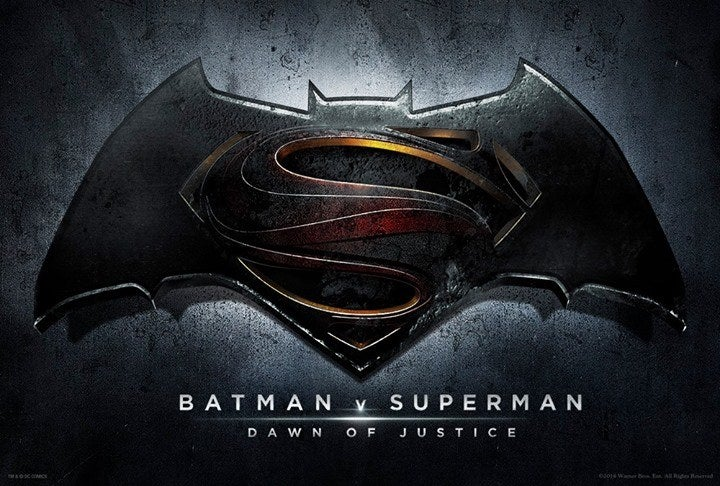 Here's the official logo for the new Batman V Superman Dawn of Justice