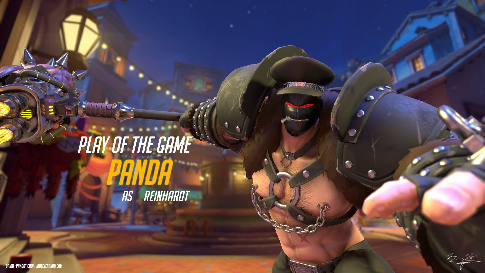 Leather Daddy Reinhardt Is Not An Official Overwatch Skin