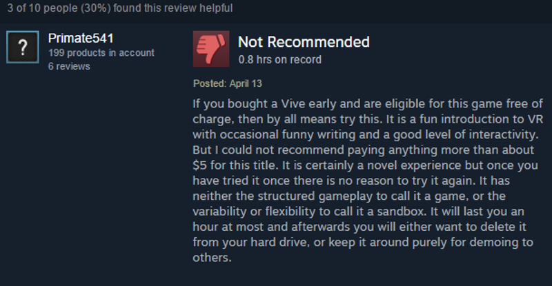 Job Simulator Lowers Price After Fan Complaints
