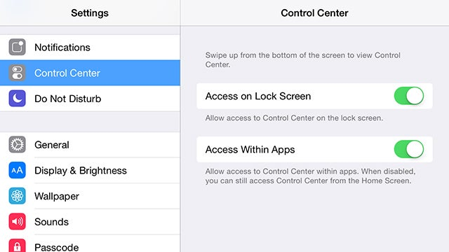 Disable the Control Center in iOS So It Stops Popping Up By Accident