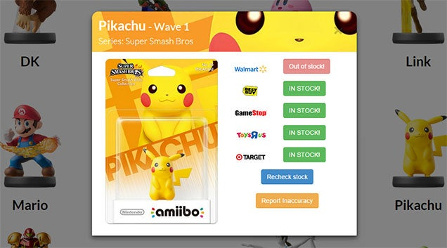 Website Will Track Amiibo Stock So You Don't Have To
