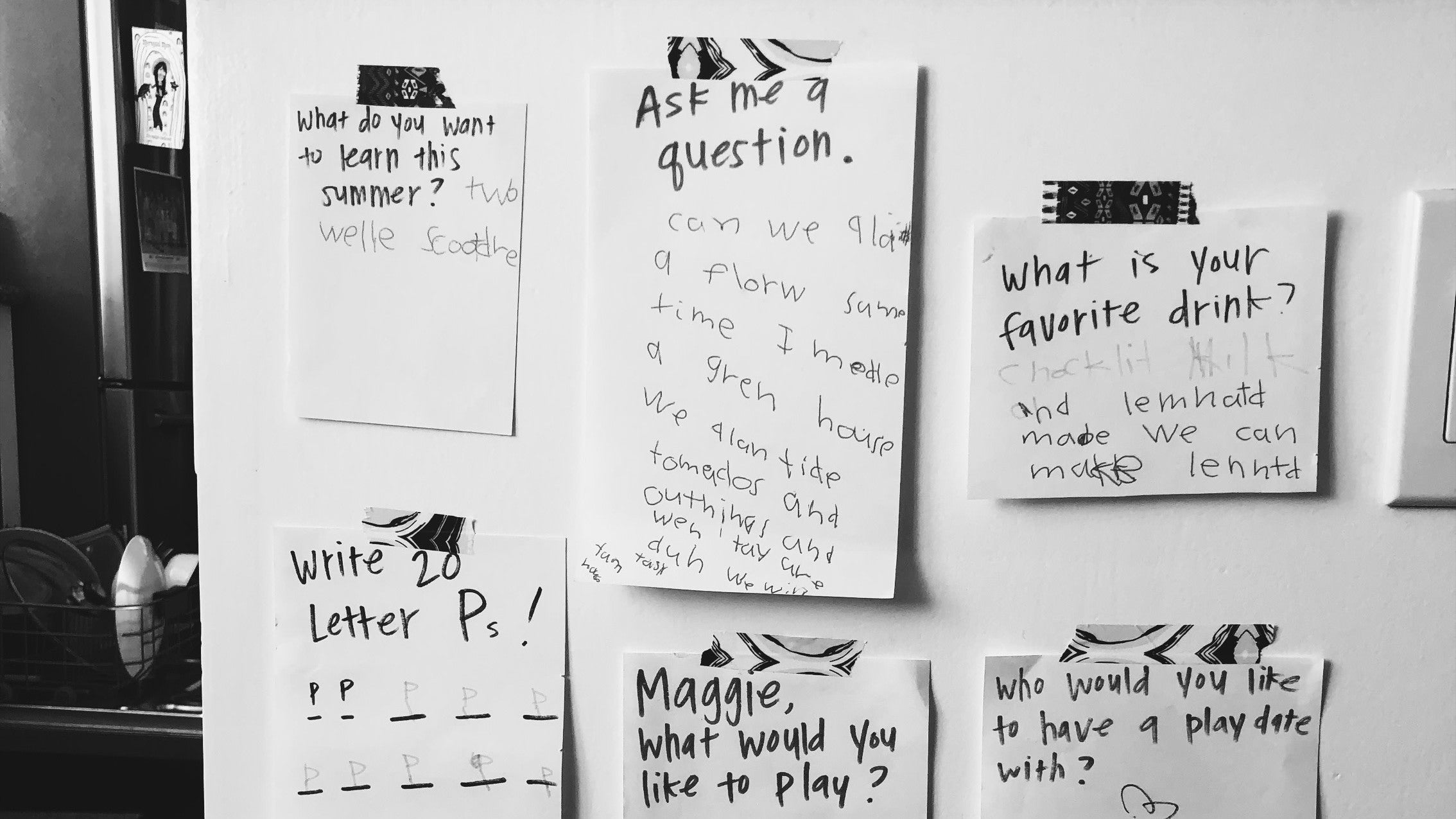 Create A 'Noticing Wall' For Your Kid