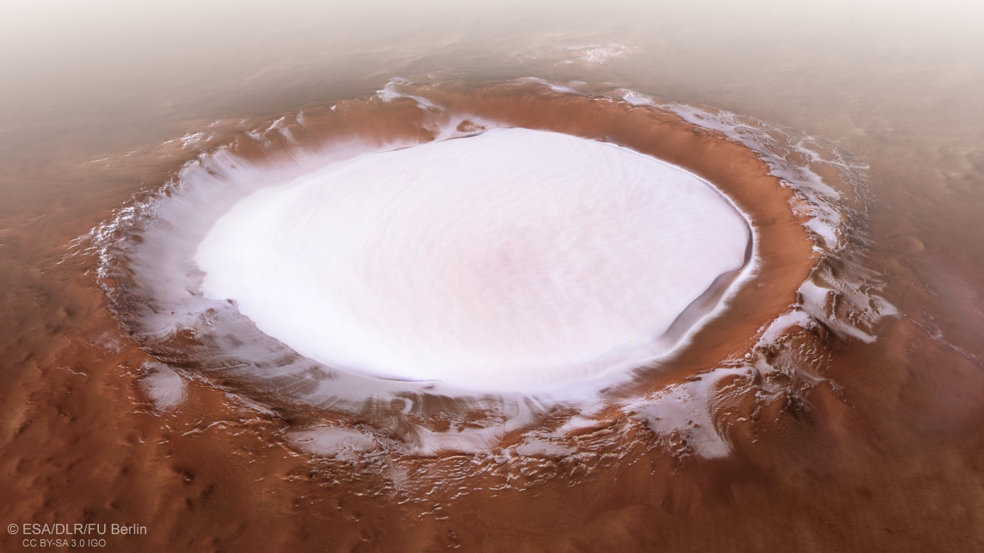 Who Wants To Go Ice Skating Across This Wintry Martian Crater?