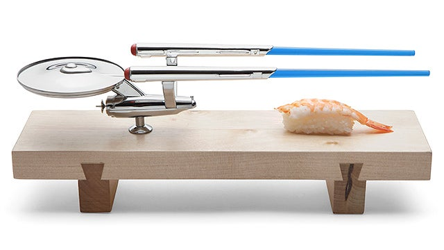 Wonderful U.S.S. Enterprise Sushi Set Includes Warp Trail Chopsticks