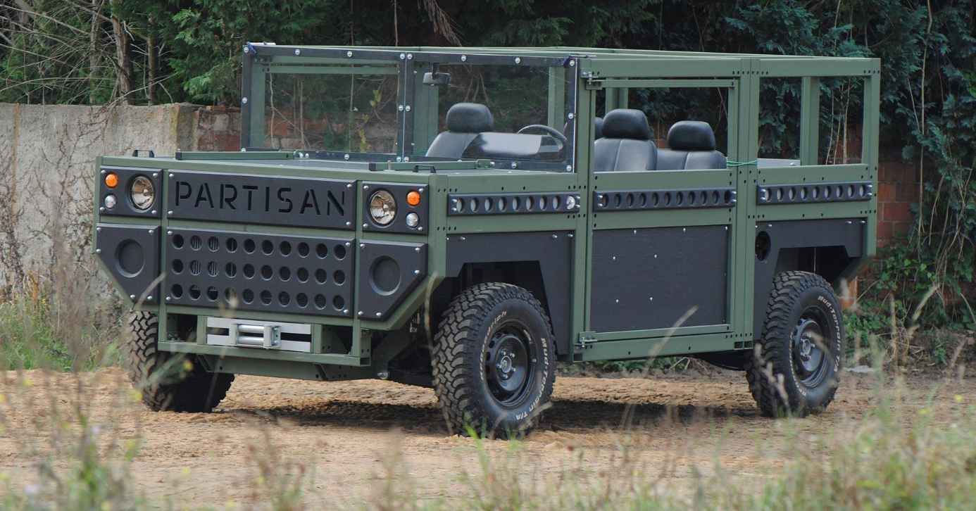 The Partisan One Is A Flat-Pack Allegedly Bomb-Proof Military Vehicle With A 100-Year Warranty