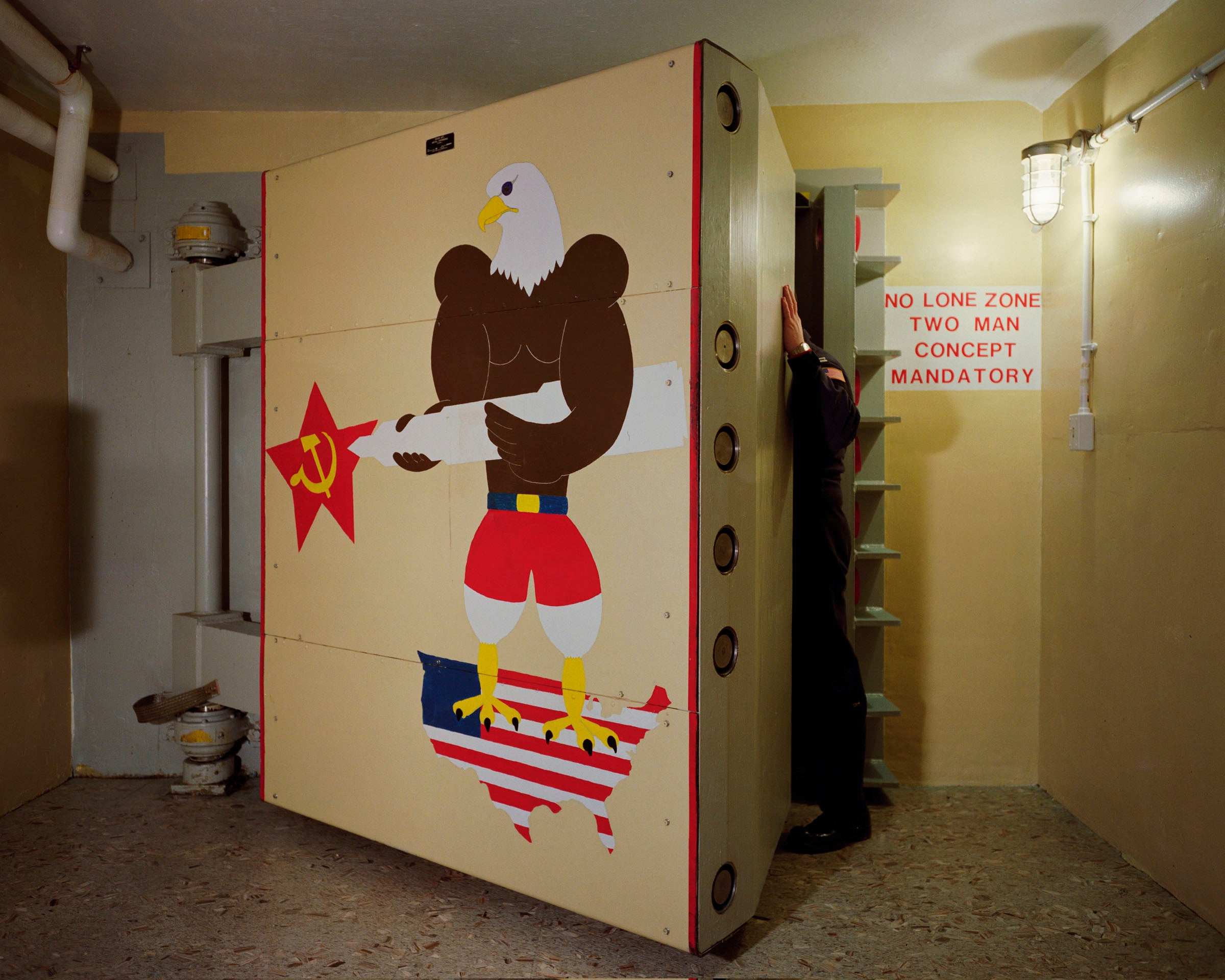 "Photo: Paul Shambroom, Untitled (Blast door, ""November 1"" Minuteman II Launch Control Center, Newell, South Dakota.), (#1251/18-19) 1992, Colour coupler print, 16X20 inches, Photo courtesy of Paul Shambroom."