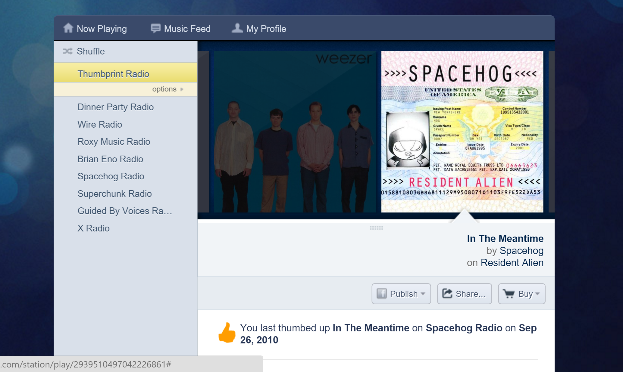 Pandora Aims to Beat the Boredom With Its New Thumbprint Radio Station