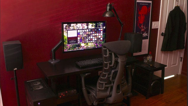 The Bold, Red and Black Workspace