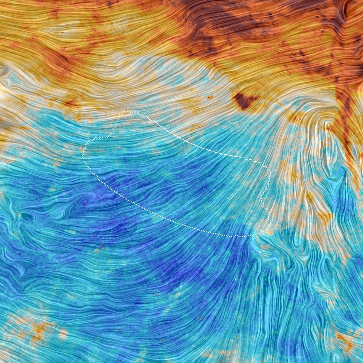 Extraordinary sky view shows orientation of our galactic magnetic field