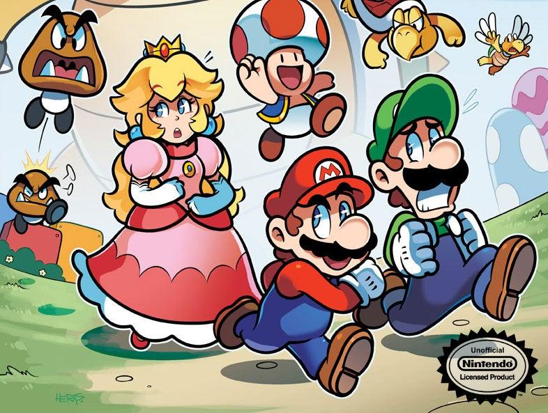 Mario Can't Run From Comic Books