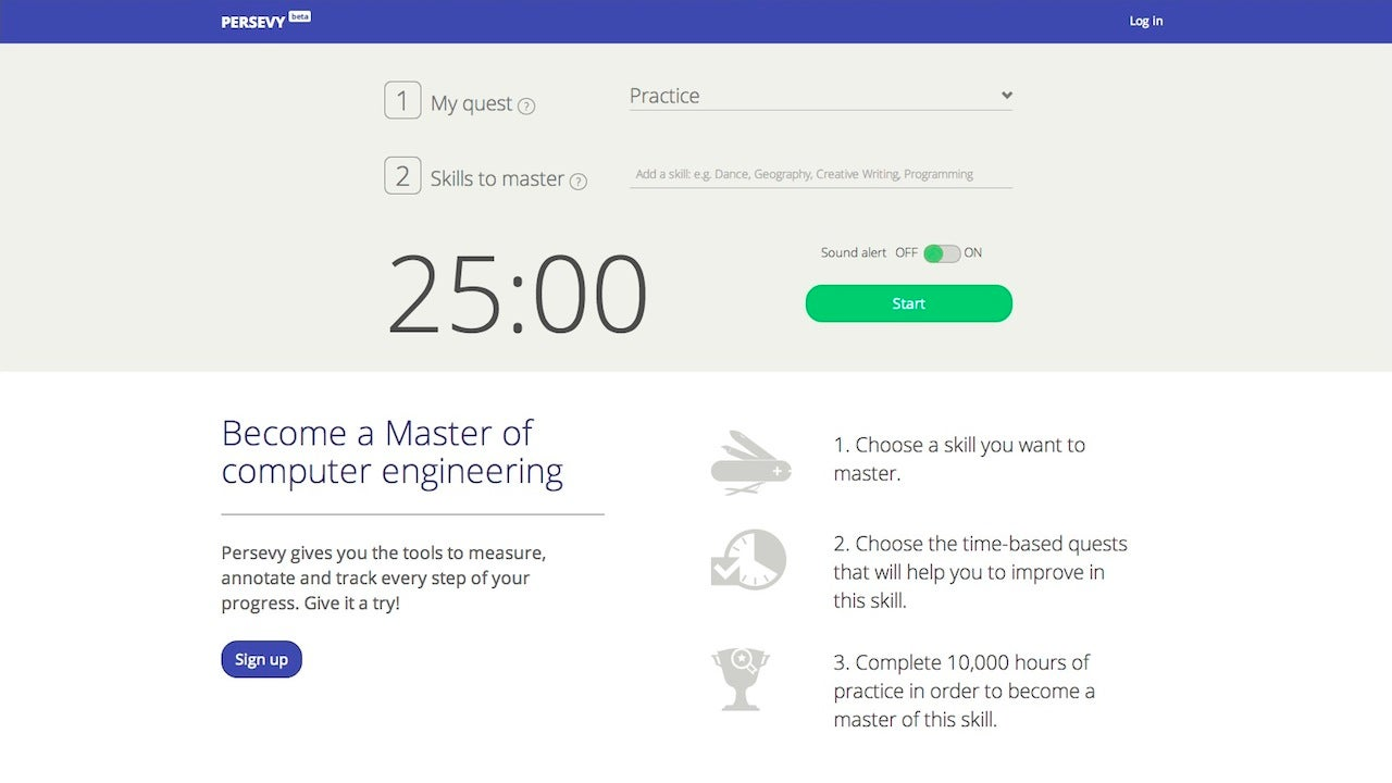 Persevy Is a Pomodoro Tool to Help You Learn Skills or Change Habits