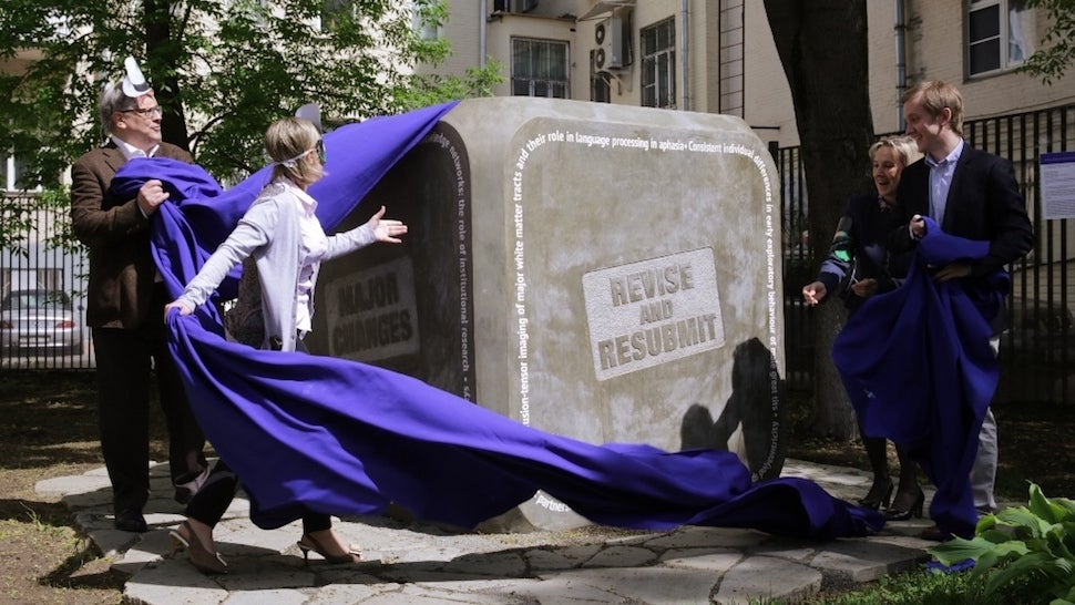 Russian University Lovingly Erects Giant Concrete Monument To Peer Review