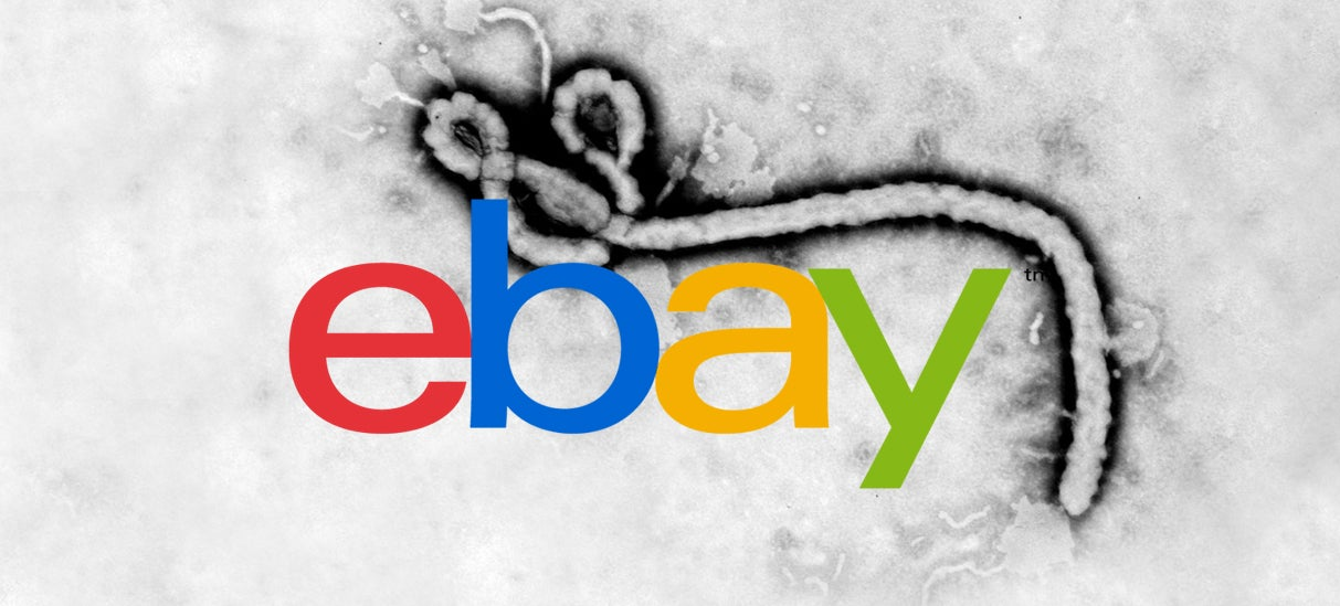 The original eBay.com hosted a page about Ebola