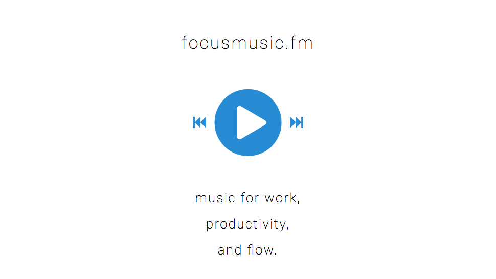 Focusmusic.fm Is Simple, Minimal And Streams Music To Work To