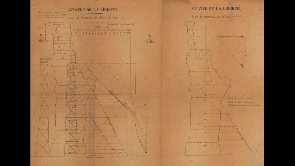 Forgotten Blueprints Reveal A Late Tweak To The Statue Of Liberty's Torch Arm