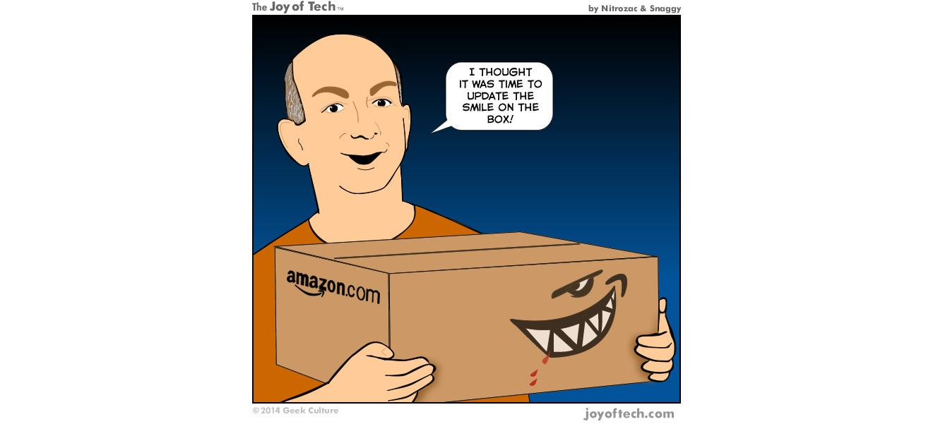 Maybe Amazon Should Make the Smile on Its Boxes a Little More Honest