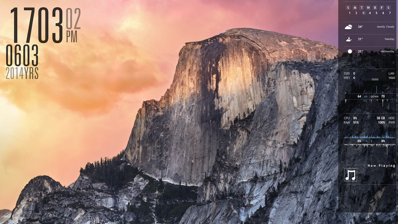 The WinYosemite Desktop