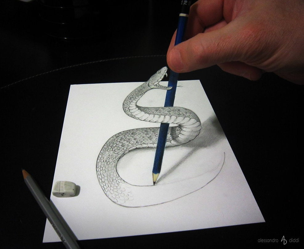 These cool anamorphic drawings will play with your brain for Conception 3d